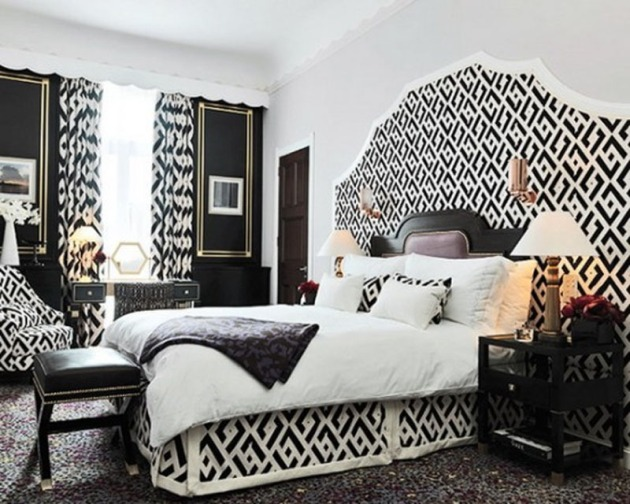 cute-black-white-bedroom-theme